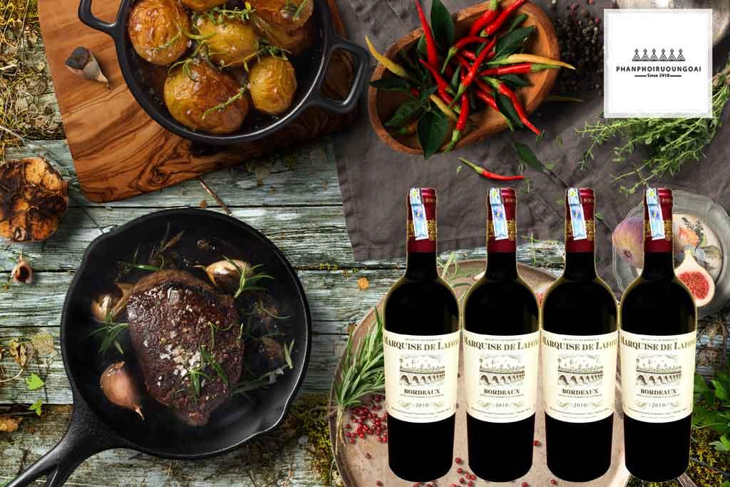 Rượu vang Pháp Marquise de Lafond đến từ Bordeaux