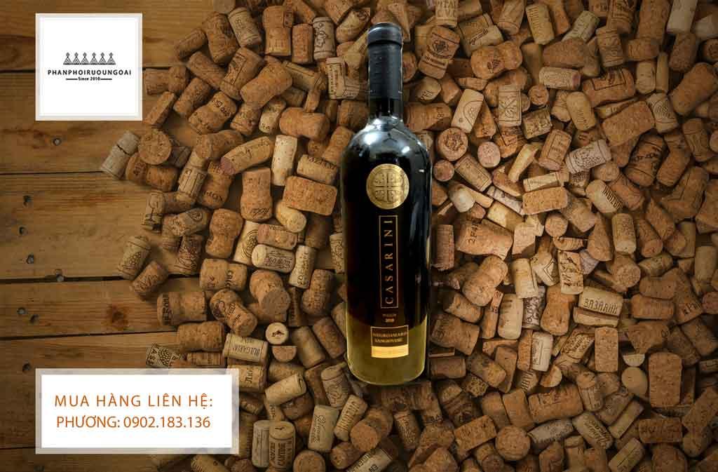 Rượu vang Ý giá rẻ Casarini ở Hà Nội
