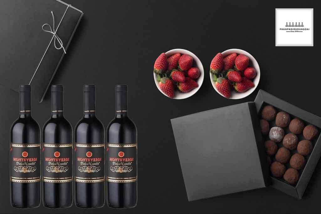 Rượu vang ý ngọt ngào Monteverdi