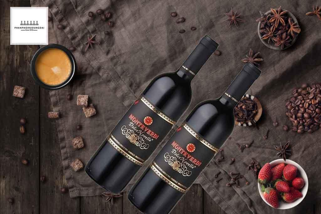 Rượu vang ý ngọt Monteverdi giá rẻ phù hợp cho nữ giới