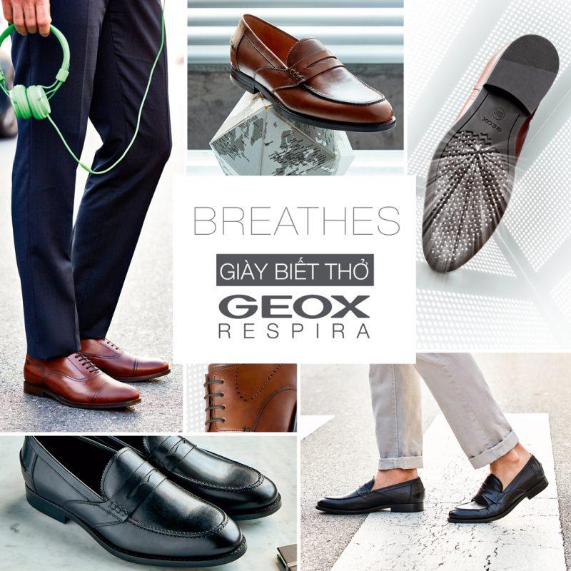 Thương hiệu giầy danh tiếng Geox của ý